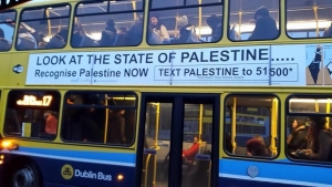 Sadaka and ICTU billboard campaign for recognition of the State of Palestine